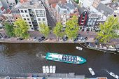View Of Amsterdam From A Height.