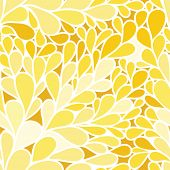 Seamless pattern. Foliate background in yellow colors