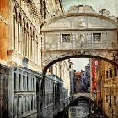 bridge of sigh in Venice - vintage picture