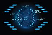 Blue Infographics As Head-up Display