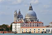 foto of world-famous  - View on Santa Maria della Salute church at sunrise - JPG