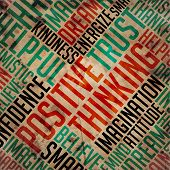 Positive Thinking - Word Cloud Concept.