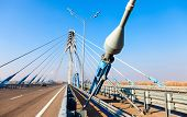 Kirovsky Cable Bridge Across The Samara River In Kirovsky District Of Samara City, Russia