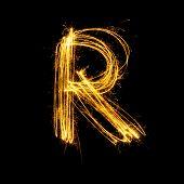 Sparkler Firework Light Alphabet R.