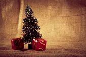 Beautiful Christmas and holidays background , artistic toned photo