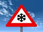Warning Sign Risk of Snow or Ice