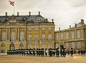 Ceremony Of Changing Of Guard On The Square Near Royal Palace In Denmark