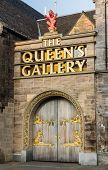 Entrance Doors To The Queen's Gallery In Edinburgh, Scotland