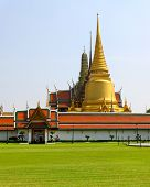 Temple Of The Emerald Buddha (wat Pra Kaew) In Bangkok ,thailand.