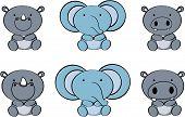cute baby animals cartoon set4