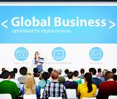 Global Business Commerce Organization Seminar Concference Learning Concept