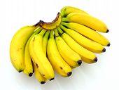 stock photo of bunch bananas  - Bunch of bananas isolated on white background - JPG