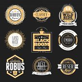 stock photo of signs  - Set of Retro Vintage Badges and Logotypes - JPG