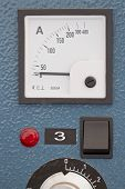 picture of toggle switch  - control panel installation for heat treatment of welded joints with toggle switches and ammeter - JPG