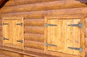 foto of wainscoting  - Wooden house - JPG
