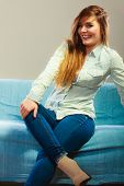 picture of denim wear  - Young people happiness concept - JPG