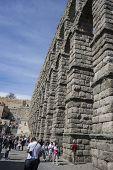 pic of aqueduct  - Roman aqueduct of segovia - JPG