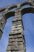 stock photo of aqueduct  - Roman aqueduct of segovia - JPG