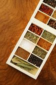 stock photo of bay leaf  - set of different spices  - JPG