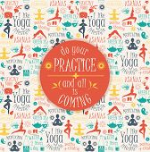 image of pranayama  - Yoga background with yogic quote - JPG