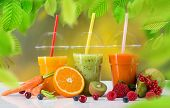 stock photo of fruit-juice  - Fresh juice mix fruit - JPG
