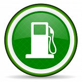 image of petrol  - petrol green icon gas station sign  - JPG