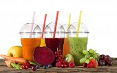 picture of fruit-juice  - Fresh juice mix fruit - JPG