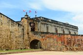 stock photo of san juan puerto rico  - Castillo de San Cristobal - JPG
