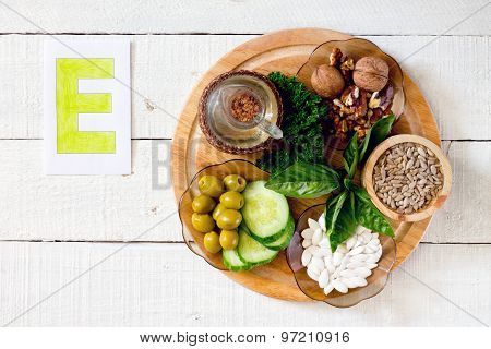 Foods containing vitamin e poster id97210916 foods containing vitamin e poster workwithnaturefo
