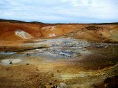 Постер, плакат: The geothermal area of Krysuvik Iceland