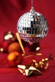 christmas balls and discoball poster