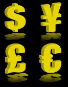 Money Symbols Gold