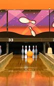 foto of bowling ball  - a bowling alley - JPG