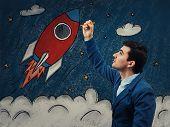 Business Rocket Startup poster