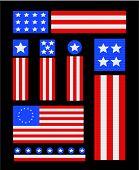 Patriotic USA Vector Icons