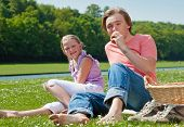 Two Teenagers Having Picnic
