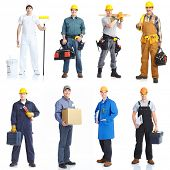 foto of factory-worker  - Industrial contractors workers people - JPG