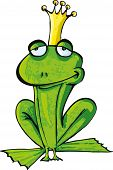 Cartoon Frog Prince With Crown