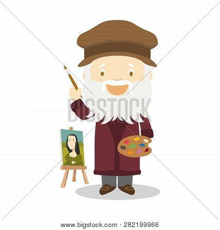 Leonardo Da Vinci Cartoon Character
