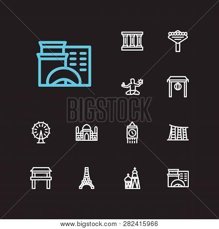 Travel Icons Set England Greek