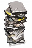 Big Stacked Hard Drives