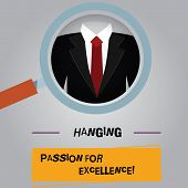 Handwriting Text High Quality Passion For Excellence. Concept Meaning Excellent Job Great Successful poster