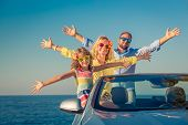 Happy Family Travel By Car poster