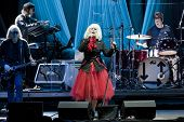 CLARK, NJ - SEPT 17: Singer Deborah Harry and the band Blondie perform at the Union County Music Fes
