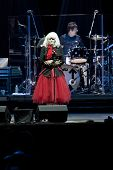 CLARK, NJ - SEPT 17: Singer Deborah Harry and drummer Clem Burke of the band Blondie perform at the Union County Music Fest on September 17, 2011 in Clark, NJ. Newest release is titled Panic of Girls.