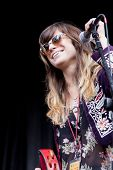 CLARK, NJ - SEPT 17: Singer-songwriter Nicole Atkins & The Black Sea perform at the Union County Mus
