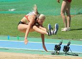 BARCELONA, SPAIN - JULY 27: Bianca Kappler of Germany competes on the Women long jump during the 20t