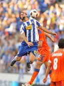 BARCELONA - AUGUST 29: Osvaldo of Espanyol in action during a Spanish League match between RCD Espan