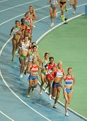 BARCELONA, SPAIN - JULY 28: Competitors of 10000m Women Final of the 20th European Athletics Champio