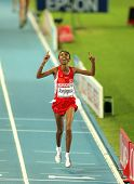 BARCELONA, SPAIN - JULY 28: Elvan Abeylegesse of Turkey winning the Women 10000m final during the 20